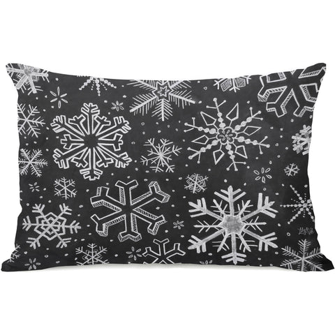 """Snowflake Variety"" Indoor Throw Pillow by Lily & Val, 14""x20"""