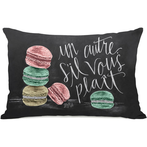 """Un autre macaron"" Indoor Throw Pillow by Lily & Val, 14""x20"""