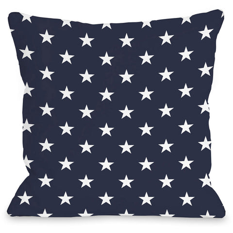 """All Over American Stars"" Indoor Throw Pillow by OneBellaCasa, 16""x16"""