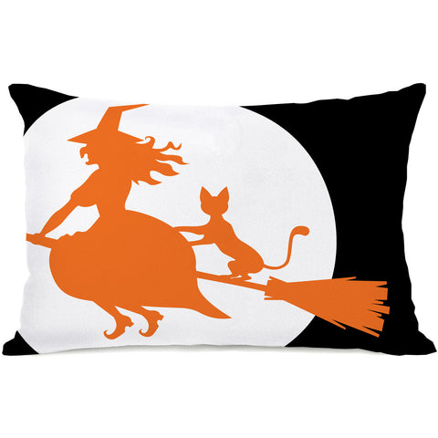 """Witch's Best Friend"" Indoor Throw Pillow by OneBellaCasa, 14""x20"""