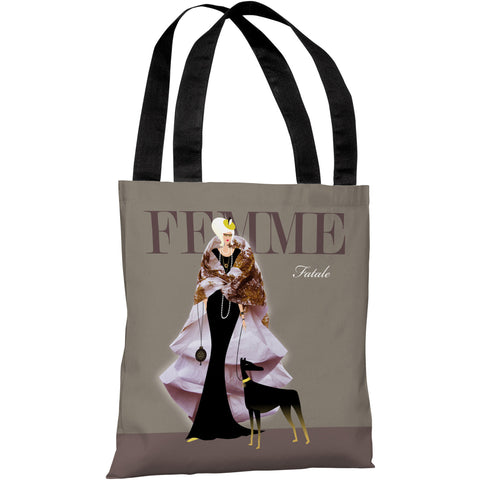 """Girl with Creature"" 18""x18"" Tote Bag by Michael Sanderson"
