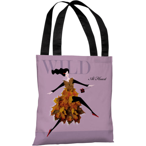 """Wild At Heart"" 18""x18"" Tote Bag by Dominique Vari"