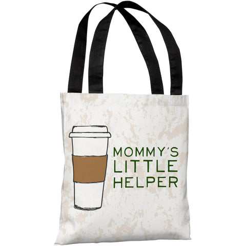 """Mommy's Little Helper"" 18""x18"" Tote Bag by OneBellaCasa"