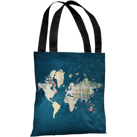 """Where To Next"" 18""x18"" Tote Bag by OneBellaCasa"