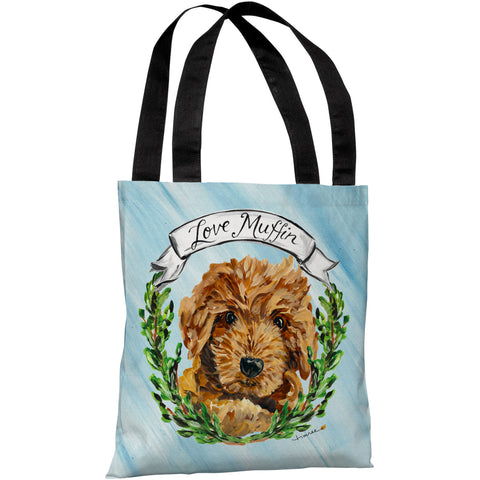 """Doodle"" 18""x18"" Tote Bag by Timree Gold"