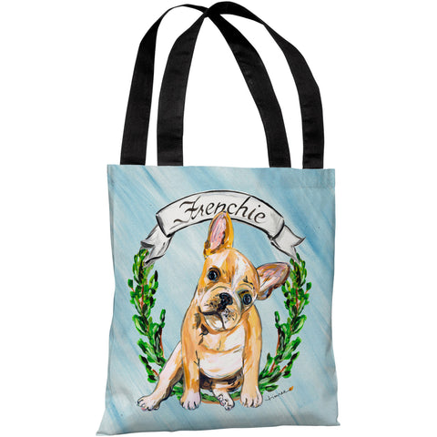 """French Bulldog"" 18""x18"" Tote Bag by Timree Gold"