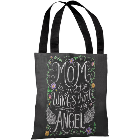 """Mom Angel"" 18""x18"" Tote Bag by Lily & Val"