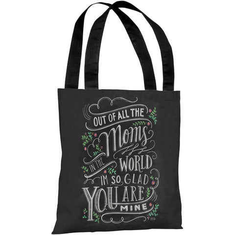 """Moms In The World"" 18""x18"" Tote Bag by Lily & Val"