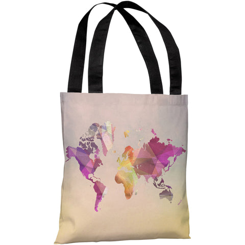 """World In Abstract"" 18""x18"" Tote Bag by OneBellaCasa"