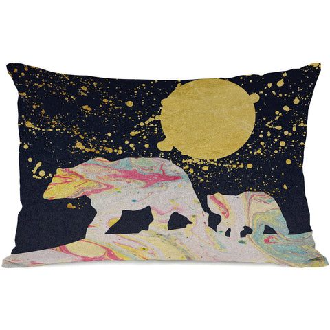 """Moon Bear"" Indoor Throw Pillow by OneBellaCasa, 14""x20"""