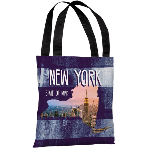"""New York State Of Mind"" 18""x18"" Tote Bag by OneBellaCasa"