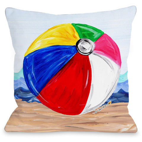 """Beachball"" Indoor Throw Pillow by Timree Gold, 16""x16"""