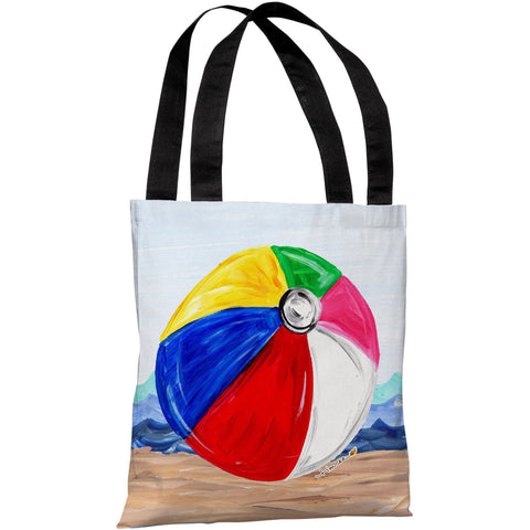 """Beachball"" 18""x18"" Tote Bag by Timree Gold"
