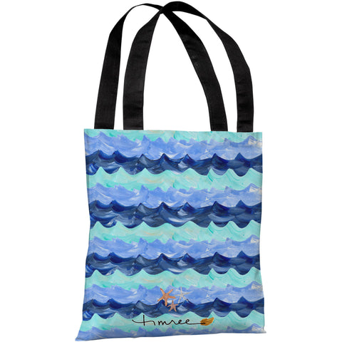 """You & Me By The Sea"" 18""x18"" Tote Bag by Timree Gold"