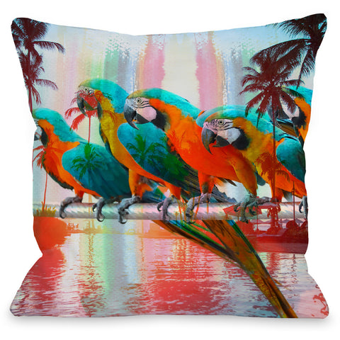 """Paradisio"" Outdoor Throw Pillow by OneBellaCasa, 16""x16"""