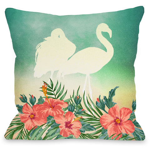 """Meigan"" Outdoor Throw Pillow by OneBellaCasa, 16""x16"""