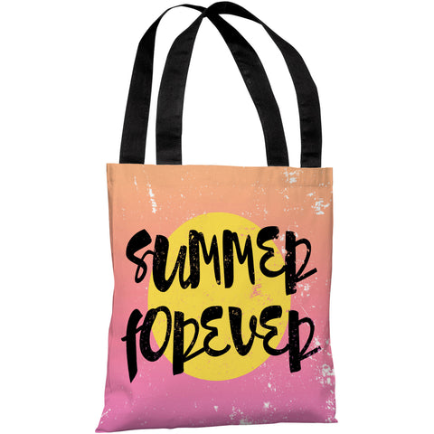 """Summer Forever"" 18""x18"" Tote Bag by OneBellaCasa"