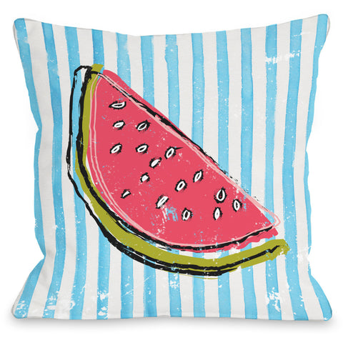 """Whatthemelon"" Indoor Throw Pillow by OneBellaCasa, 16""x16"""