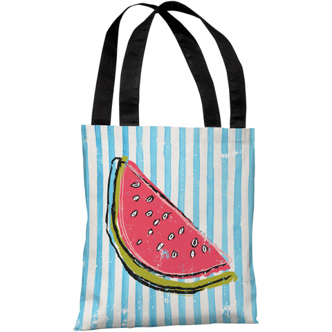 """Whatthemelon"" 18""x18"" Tote Bag by OneBellaCasa"
