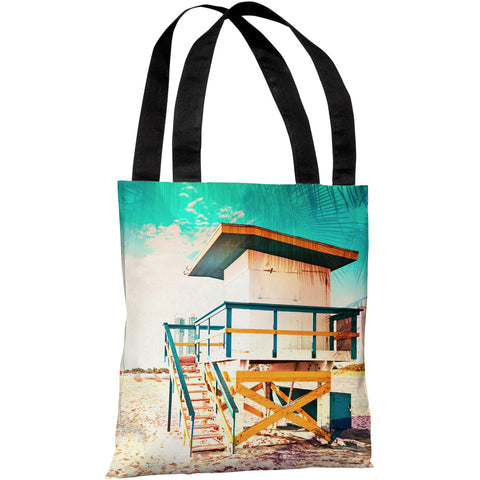 """By The Beach"" 18""x18"" Tote Bag by OneBellaCasa"