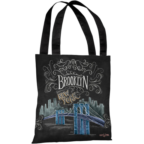 """Brooklyn"" 18""x18"" Tote Bag by Lily & Val"