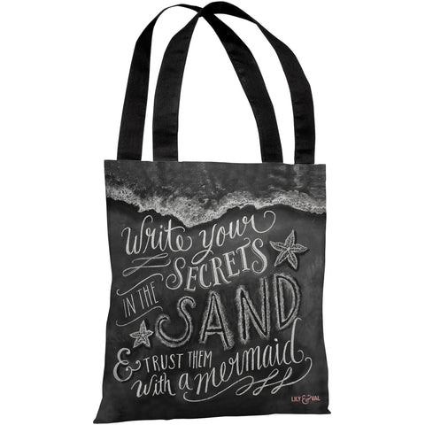 """Secrets In The Sand"" 18""x18"" Tote Bag by Lily & Val"
