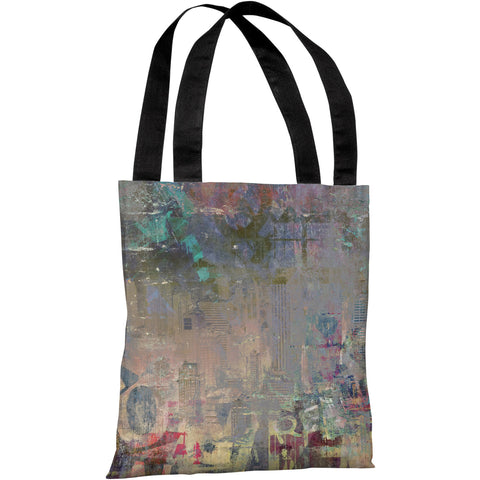 """Graffiti Stain"" 18""x18"" Tote Bag by OneBellaCasa"