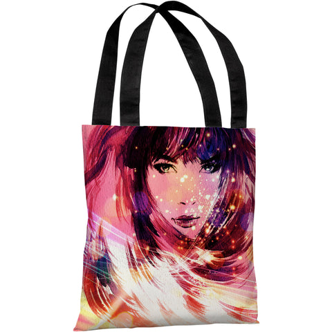 """Her Time To Shine"" 18""x18"" Tote Bag by OneBellaCasa"