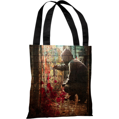 """Tagging"" 18""x18"" Tote Bag by OneBellaCasa"