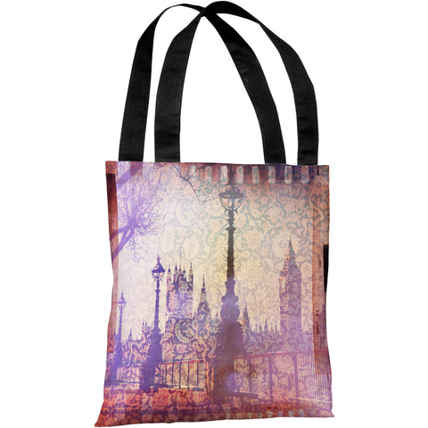 """Strolling In The Promenade"" 18""x18"" Tote Bag by OneBellaCasa"