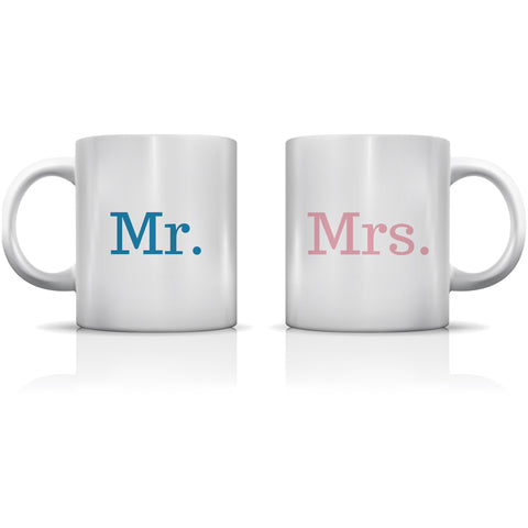 """Mr. & Mrs."" Set of Mugs by OneBellaCasa"