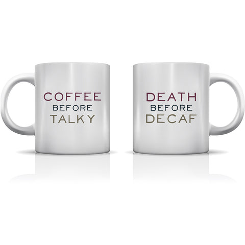 """Coffee Before Talky"" Set of Mugs by OneBellaCasa"