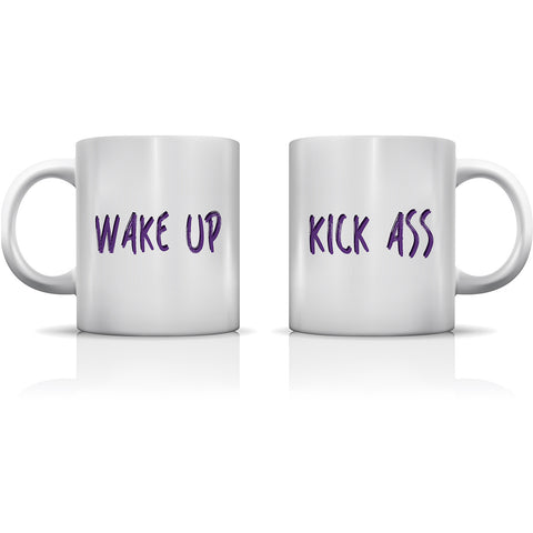"""Wake Up"" Set of Mugs by OneBellaCasa"