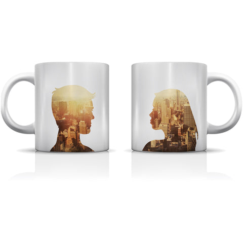 """City Profiles Sunshine"" Set of Mugs by OneBellaCasa"