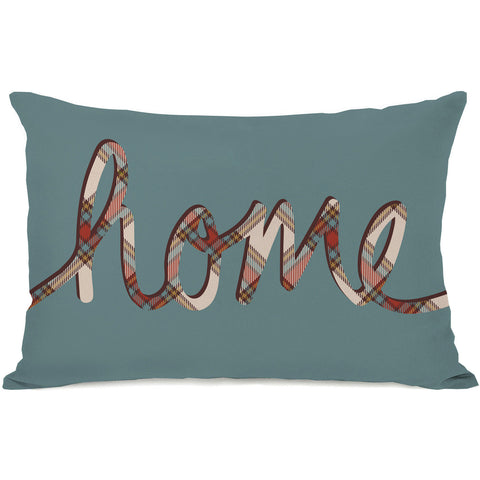 """Plaid Home"" Indoor Throw Pillow by OneBellaCasa, 14""x20"""