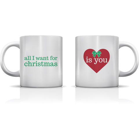 """All I Want For Christmas Is You"" Set of Mugs by OneBellaCasa"