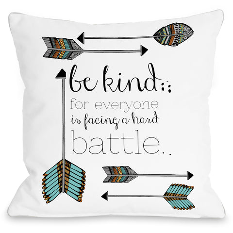 """Be Kind"" Indoor Throw Pillow by Pen & Paint, 16""x16"""