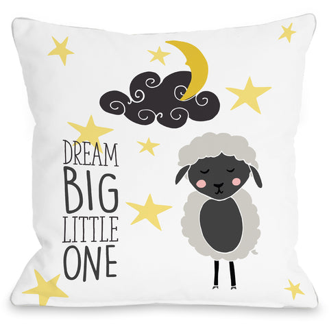 """Dream Big Little One"" Indoor Throw Pillow by Pen & Paint, 16""x16"""