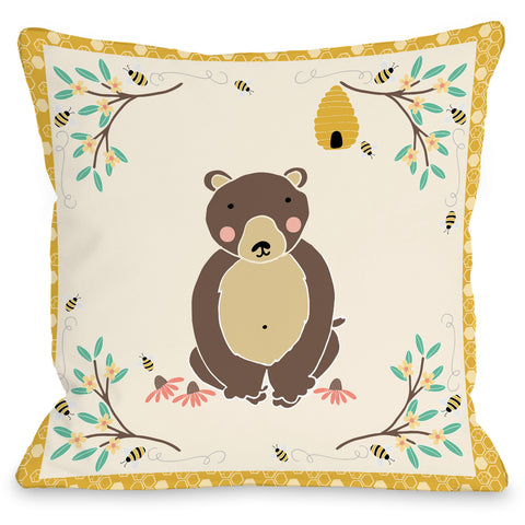 "Little Bunny Indoor/Outdoor Pillow, 16"" x 16"""