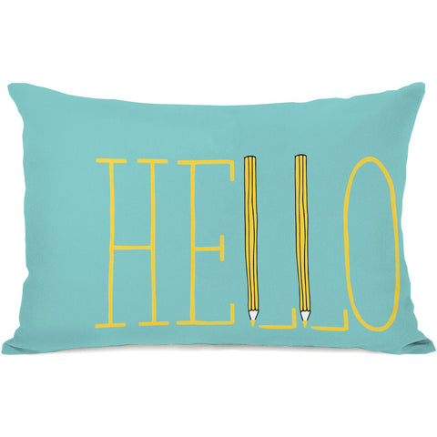 """Pencil In Hello"" Indoor Throw Pillow by Pen & Paint, 14""x20"""
