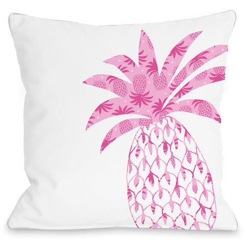 """Pleasant Pineapple"" Indoor Throw Pillow by Pen & Paint, 16""x16"""