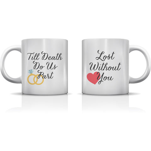 """Lost Without You"" Set of Mugs by OneBellaCasa"