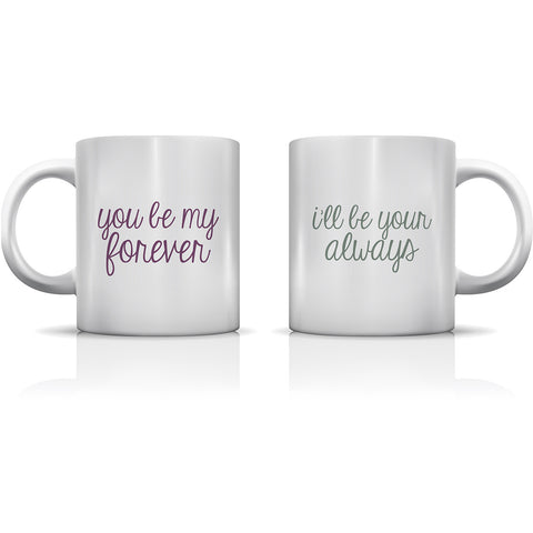 """Forever & Always"" Set of Mugs by OneBellaCasa"