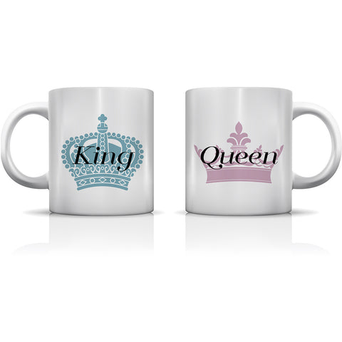 """King & Queen"" Set of Mugs by OneBellaCasa"