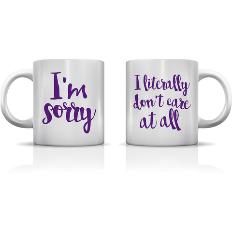 """I Literally Don't Care"" Set of Mugs by OneBellaCasa"