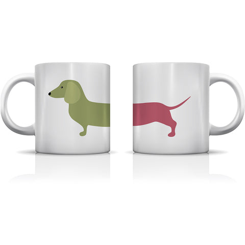 """Long Dachshund "" Set of Mugs by OneBellaCasa"