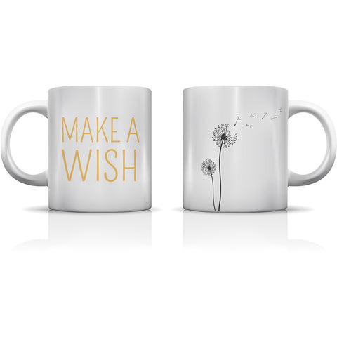 """Make A Wish Dandelion"" Set of Mugs by OneBellaCasa"