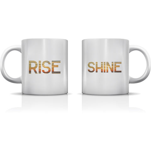 """Rise & Shine"" Set of Mugs by OneBellaCasa"