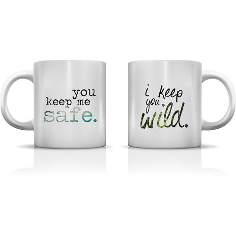 """Safe & Wild"" Set of Mugs by OneBellaCasa"