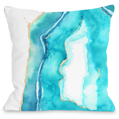 """Bold Formations"" Outdoor Throw Pillow by lezleeelliot, Blue, 16""x16"""